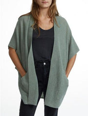 White + Warren - Kimono Cardigan Sage Heather