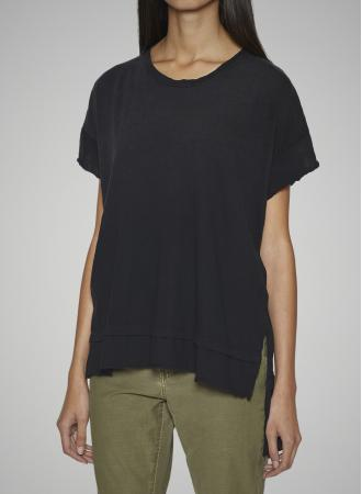 Current Elliott - The High Low Tee in Black