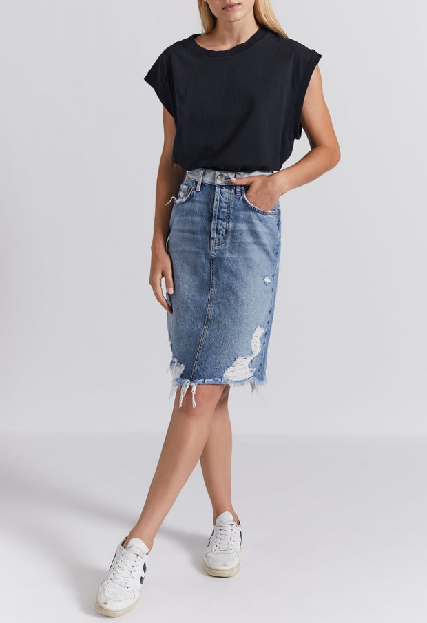Current Elliott - THE ULTRA HIGH WAIST SKIRT