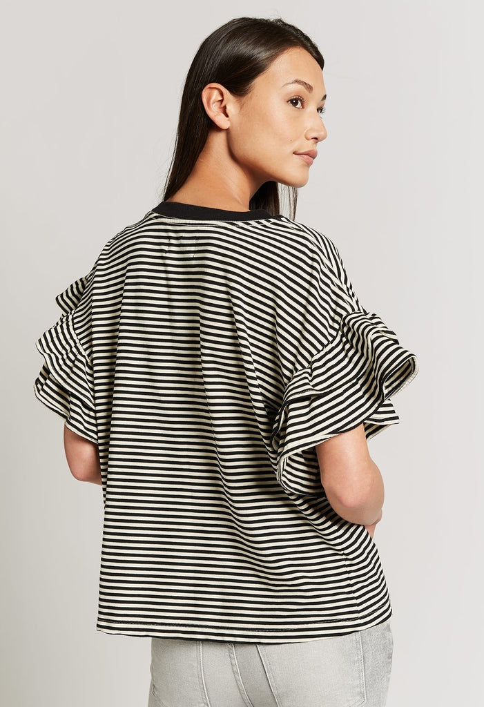 Current/ Elliott- The Carina Top Black/White