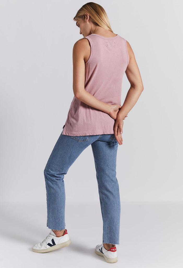 Current/ Elliott- The Muscle Tee Pink Nector