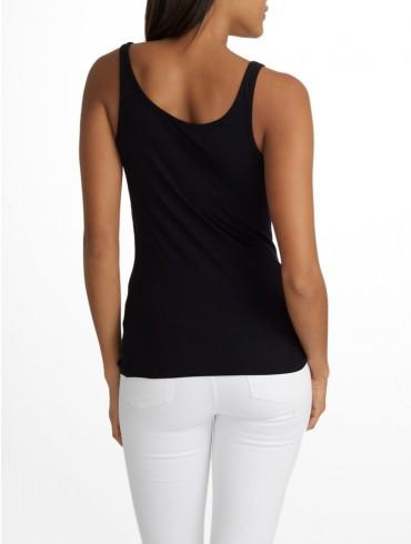 White + Warren - Layering Tank Black