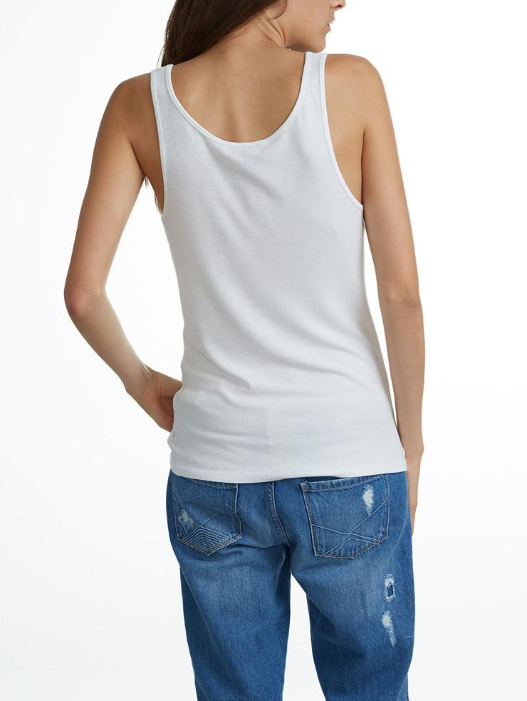 White + Warren - Layering Tank White