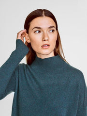 White + Warren - Circular Hem Standneck
