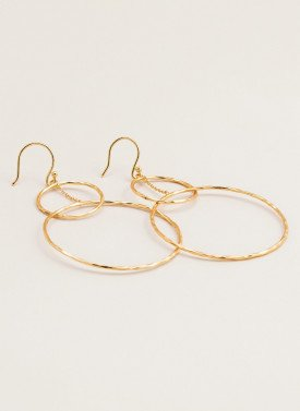 Gorjana - Interlocking Circle Drop Earrings in Gold