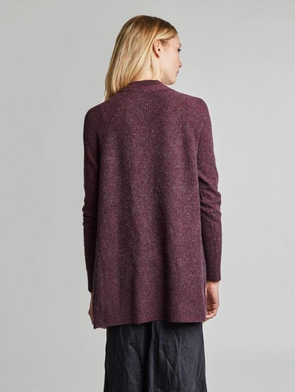 White + Warren - Rib Snap Front Cardigan