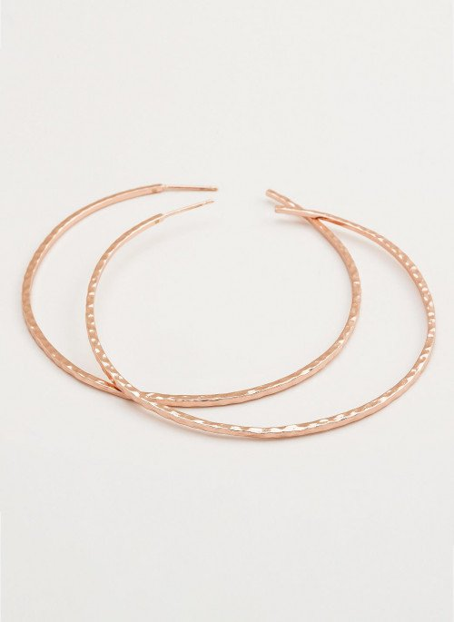 Gorjana- Taner XL Hoops Rose Gold