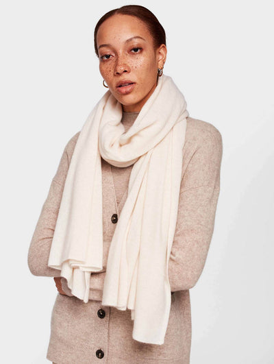 White + Warren - Mini Cashmere Travel Wrap in Pearl White