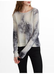 White + Warren - Abstract Stitch Crewneck