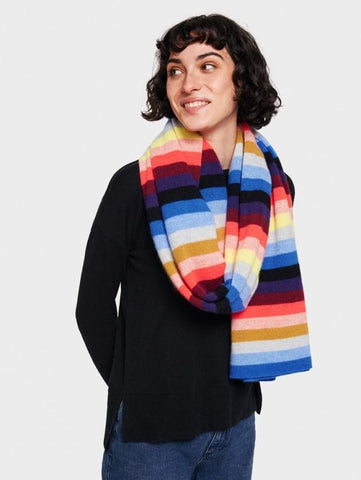 White + Warren- Multi Stripe Travel Wrap Chroma Multi