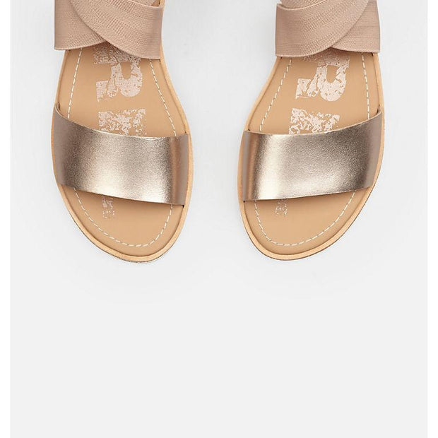 SOREL - Ella Sandal in Warm Gold