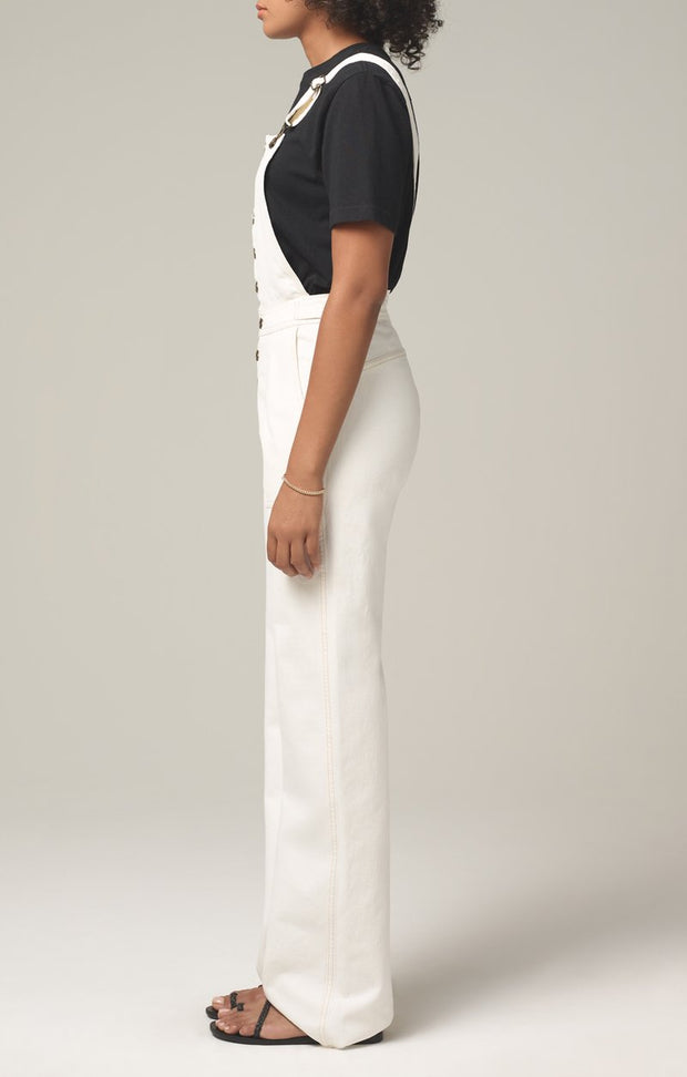 Citizens Of Humanity - Faye Button Front Overall in Field (Natural White)