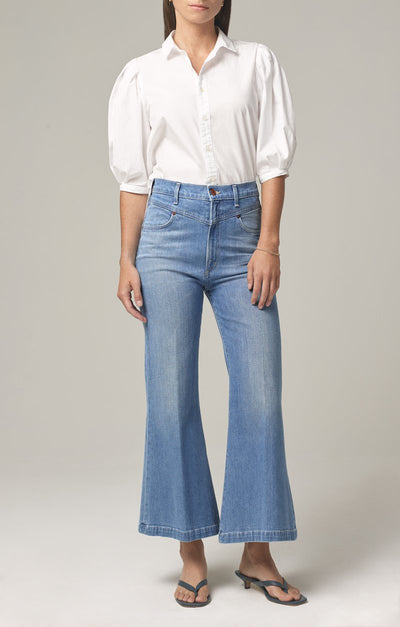 Citizens Of Humanity - Cassie Front Yoke Bell Flare Jeans in All Yours (Light Indigo Vintage)