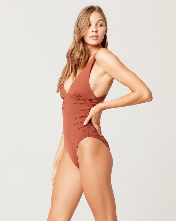 L*Space - Sydney One Piece Swimsuit in Tobacco