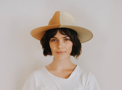 FREYA - Shadow Hat in Butterscotch/Natural