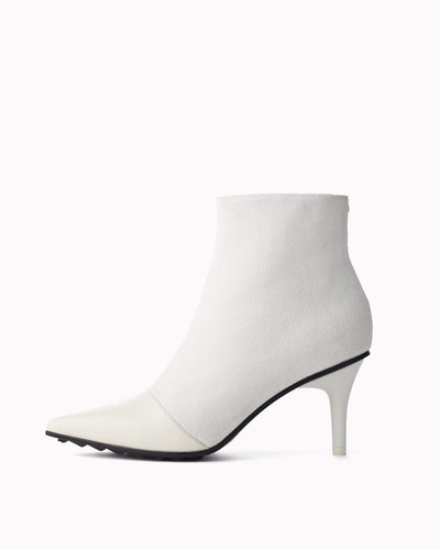Rag & Bone  - Beha Moto Ankle Boot in White