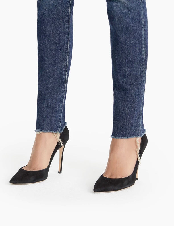Mother Denim - The Stunner Fray Skinny Jeans in Roasting Nuts