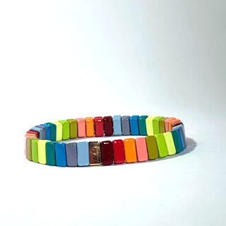 Caryn Lawn - Tile Bracelet in Fall Rainbow