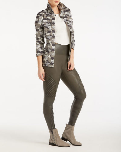 SPANX - Faux Leather Moto Legging Gunmetal