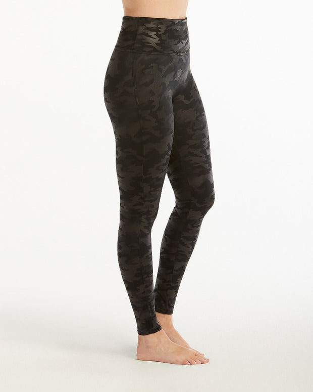 SPANX - Faux Leather Camo Legging