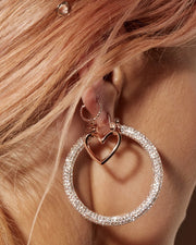 LUV AJ - Pave Amalfi Hoops in Rose Gold