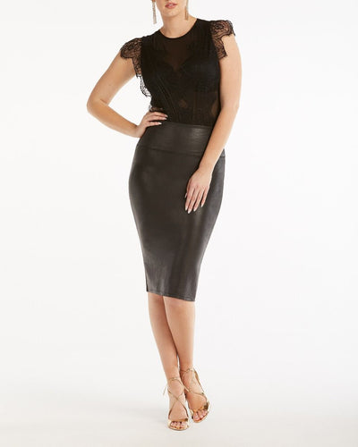 SPANX - Faux Leather Pencil Skirt