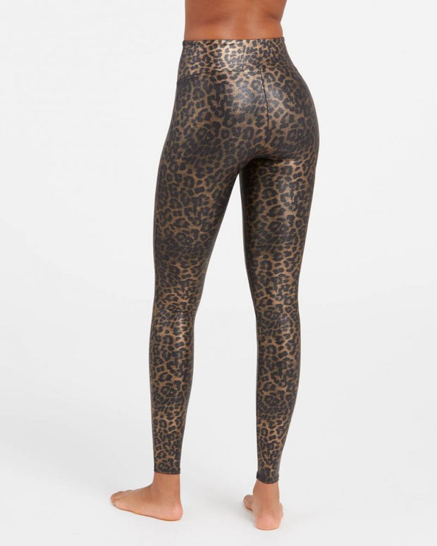Spanx - Faux Leather Leopard Leggings in Leopard Shine