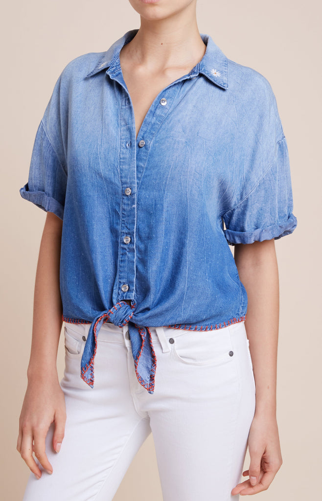 Splendid - Roma Indigo Shirt in Cielo Wash