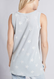 Current Elliott - The Muscle Tee Pearl Blue w/ White Stars