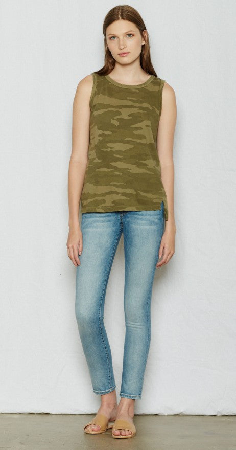 Current/Elliott Muscle Tee Army Camo at Blond Genius - 1