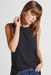 Current/Elliott Current/Elliott - The Muscle Tee Black Beauty at Blond Genius - 1