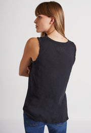 Current/Elliott Current/Elliott - The Muscle Tee Black Beauty at Blond Genius - 3