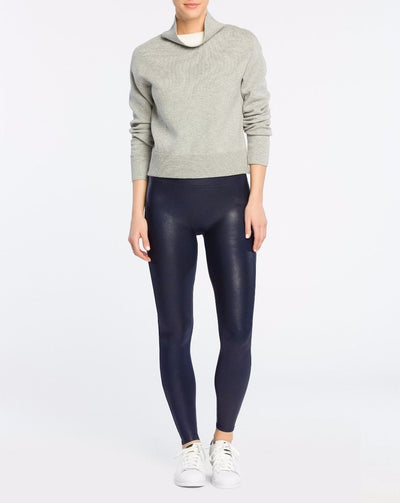 SPANX- Faux Leather Leggings Night Navy