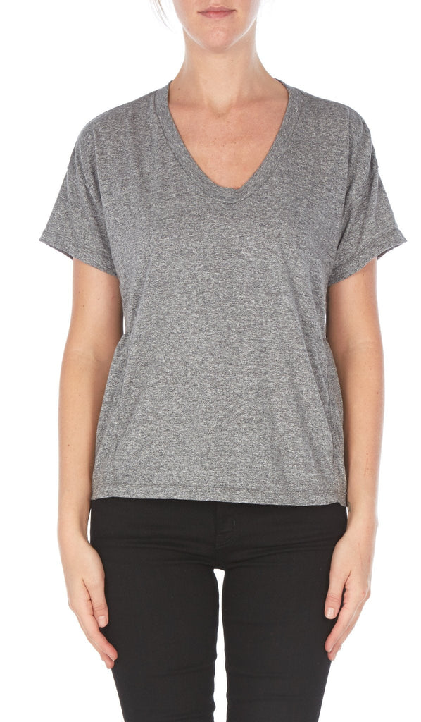 Current/Elliott The Girlfriend Tee Heather Grey at Blond Genius - 2