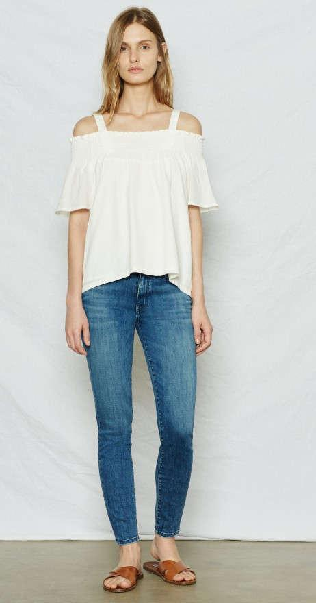 Current/Elliott The Madeline Top Sugar at Blond Genius - 1