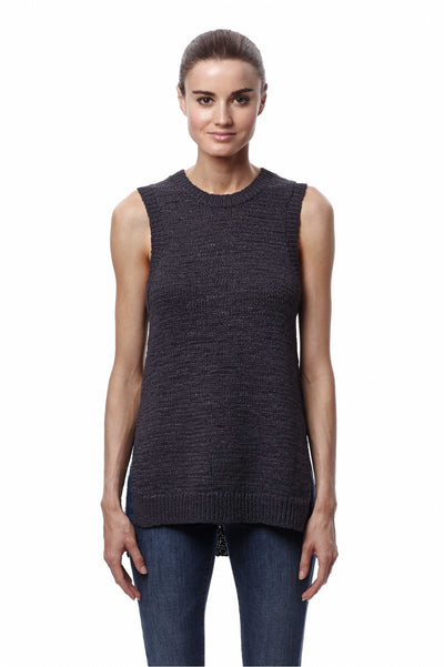 360 Sweater Ilona in Charcoal at Blond Genius - 1