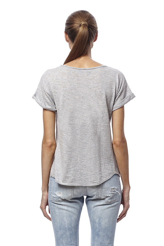 360 Sweater Jaci Top Heather Grey at Blond Genius - 2
