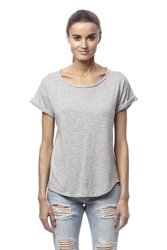360 Sweater Jaci Top Heather Grey at Blond Genius - 1