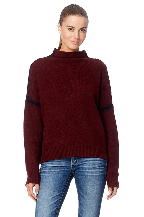 360 Sweater - Ava Rouge/ Noir