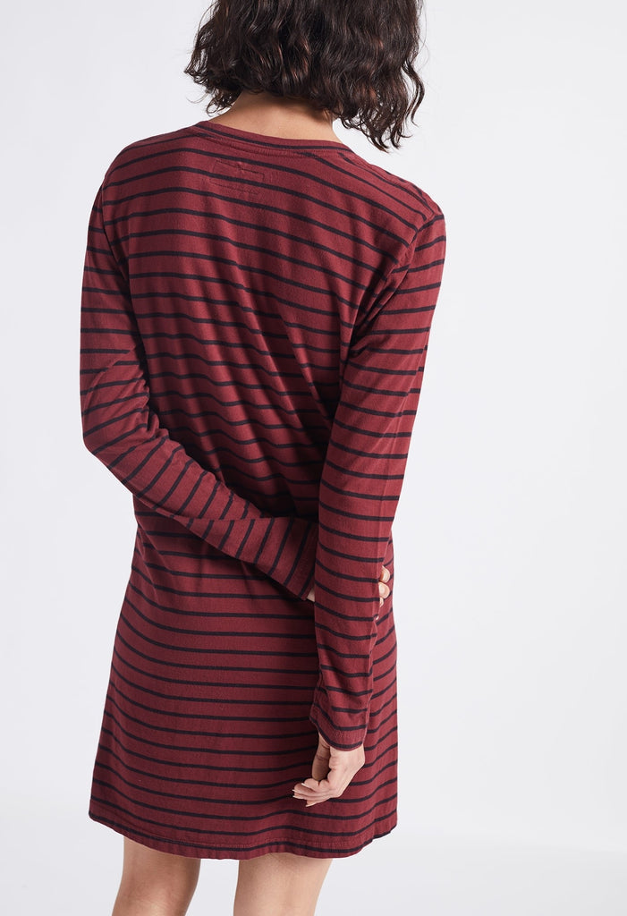 Current Elliott - The Long Sleeve Beatnik Dress Cabernet