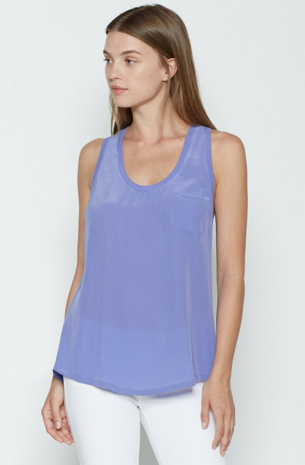 Joie Alicia Tank  Periwinkle at Blond Genius - 1