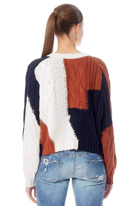 360 Sweater- Marie Marble/Rust/Navy