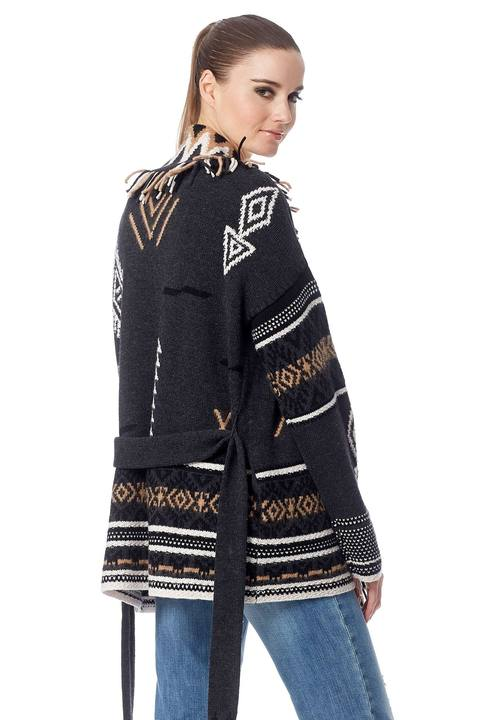360 Sweater- Vivian Graphite/Multi