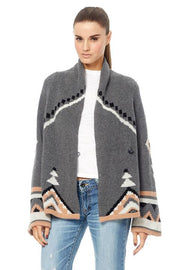 360 Sweater - Koko Cashmere Cardigan in Charcoal/Multi