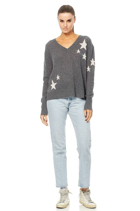 360 Sweater - Jayla Charcoal/Chalk Stars