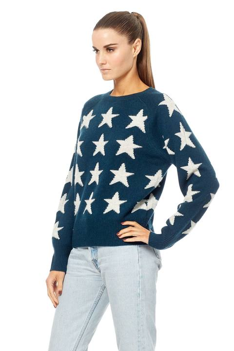 360 Sweater - Brynlee Kelp/Light Heather Grey Stars