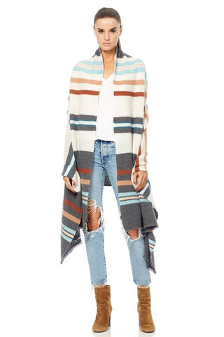 360 Sweater - Serena Multi Stripe