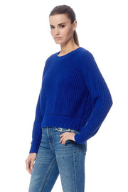 360 Sweater - Zoey Cropped Sweater Nebulas Blue