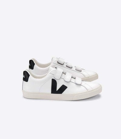 Veja Sneakers - 3-Lock Logo Leather Extra White Black