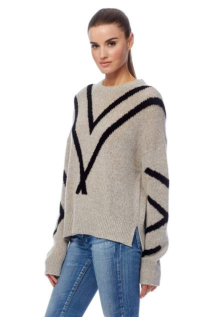 360 Cashmere - Paulina Sweater in Hazel/Black